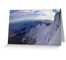Moonlight Ridge Panorama, Mount Buller Greeting Card