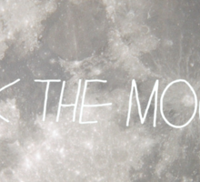 Walk the moon to space  Sticker