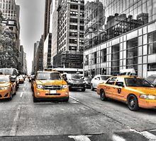 Yellow Taxis....New York City by Poete100