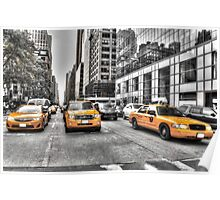 Yellow Taxis....New York City Poster