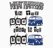 What happens in the VW BUS stays BLUE version by thatstickerguy