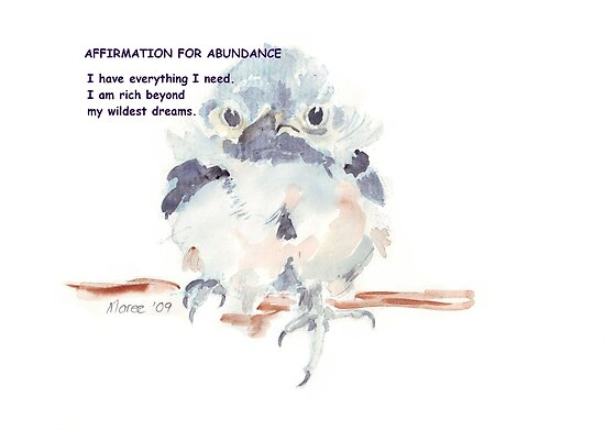 Affirmation for ABUNDANCE 1 by Maree  Clarkson