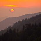 A Smoky Mountain Sunset 7:44pm by thatstickerguy
