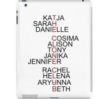 The Clone Club Names - Orphan Black iPad Case/Skin