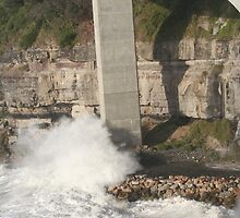 Sea Cliff Bridge in Large Seas by Basa