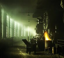 Locomotive Roundhouse by solnoirstudios