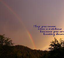 Rainbow - Cheer Card by Amber Graham (grahamedia)