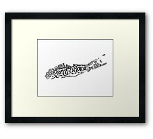 Hipster Long Island Outline Framed Print