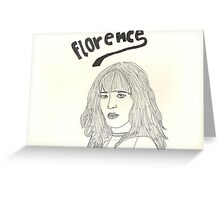 sketch of Florence from Florence + the machine Greeting Card