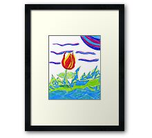 Magical Colors Framed Print