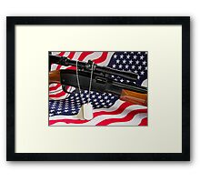 Some Gave All... Framed Print