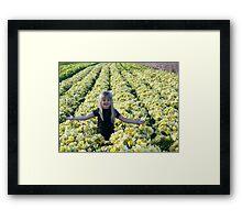 Outstanding In Her Field Framed Print