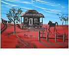 HOME SWEET HOME OUTBACK AUSTRALIA by LynnePickeringArt
