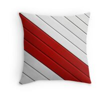 Abstract - red, white, grey Throw Pillow
