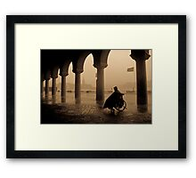 Waiting For The Rain To Stop Framed Print