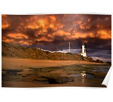 Low Clouds - Point Lonsdale Poster