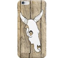 Cow Skull hanging on the Barn iPhone Case/Skin