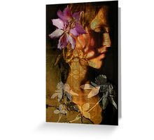 Flower in my head Greeting Card
