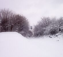 Snow-covered Railroad Tracks by James Brotherton