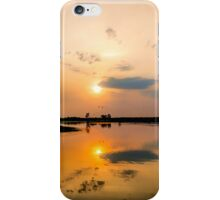 Yellow Water Sunset Reflections iPhone Case/Skin