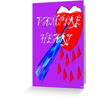 VAMPIRE HEART Greeting Card