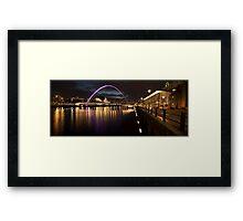 The Millenium Bridge Panoramic Framed Print