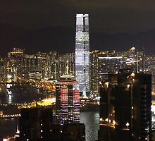 Night on the City III - Hong Kong. by Tiffany Lenoir