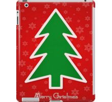 Merry Christmas Tree With Snowflake Background iPad Case/Skin