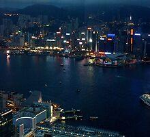 Night on the City VI - Hong Kong. by Tiffany Lenoir