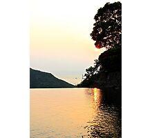 Falling Sun on Natural Pool II - Hong Kong. Photographic Print