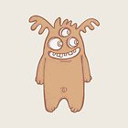 Three eyes tan monster  by VectoryBelle