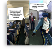 Hipster Airline Pilot  Canvas Print