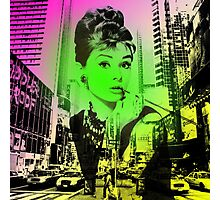 Audrey Hepburn Pop Art  Photographic Print