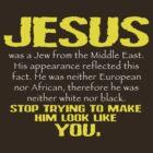 Jesus Was a Jew - Gold/White by BlueEyedDevil