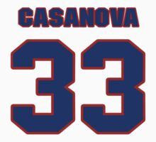 National baseball player Raul Casanova jersey 33 by imsport