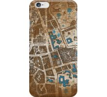 Distressed Maps: His Dark Materials Lyra's Oxford iPhone Case/Skin