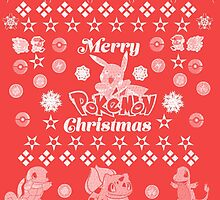 Pokemon Christmas Card Jumper Pattern by Alice Edwards