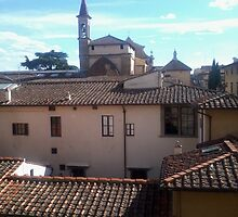 A Small Bell Tower View in Florence, Italy by NicoleJadeArt