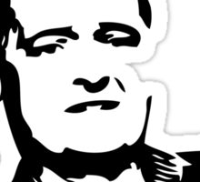 MOFFAT: Doesn't he look tired? (Black on light colors) Sticker