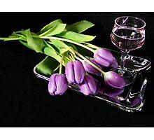 Purple Blush Photographic Print