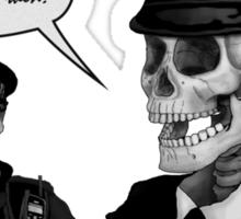 Skeleton Police (Red) Sticker