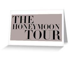 The Honeymoon Tour Greeting Card