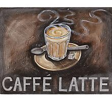 caffe latte Photographic Print