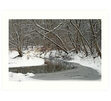 Early Winter At Petrifying Springs Art Print