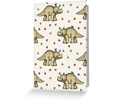 Triceratops & Triangles Greeting Card