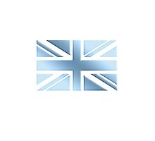COOL BRITANNIA, UNION JACK, BRITISH FLAG, UK, ENGLAND, COOL BLUE, ICE by TOM HILL - Designer