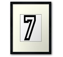 TEAM SPORTS, NUMBER 7, SEVENTH, SEVEN, Competition Framed Print