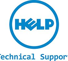 Funny Dell Parody Logo Computer Tech Support by andabelart