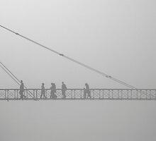 Misty crossing by awefaul