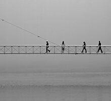 Four pedestrians by awefaul